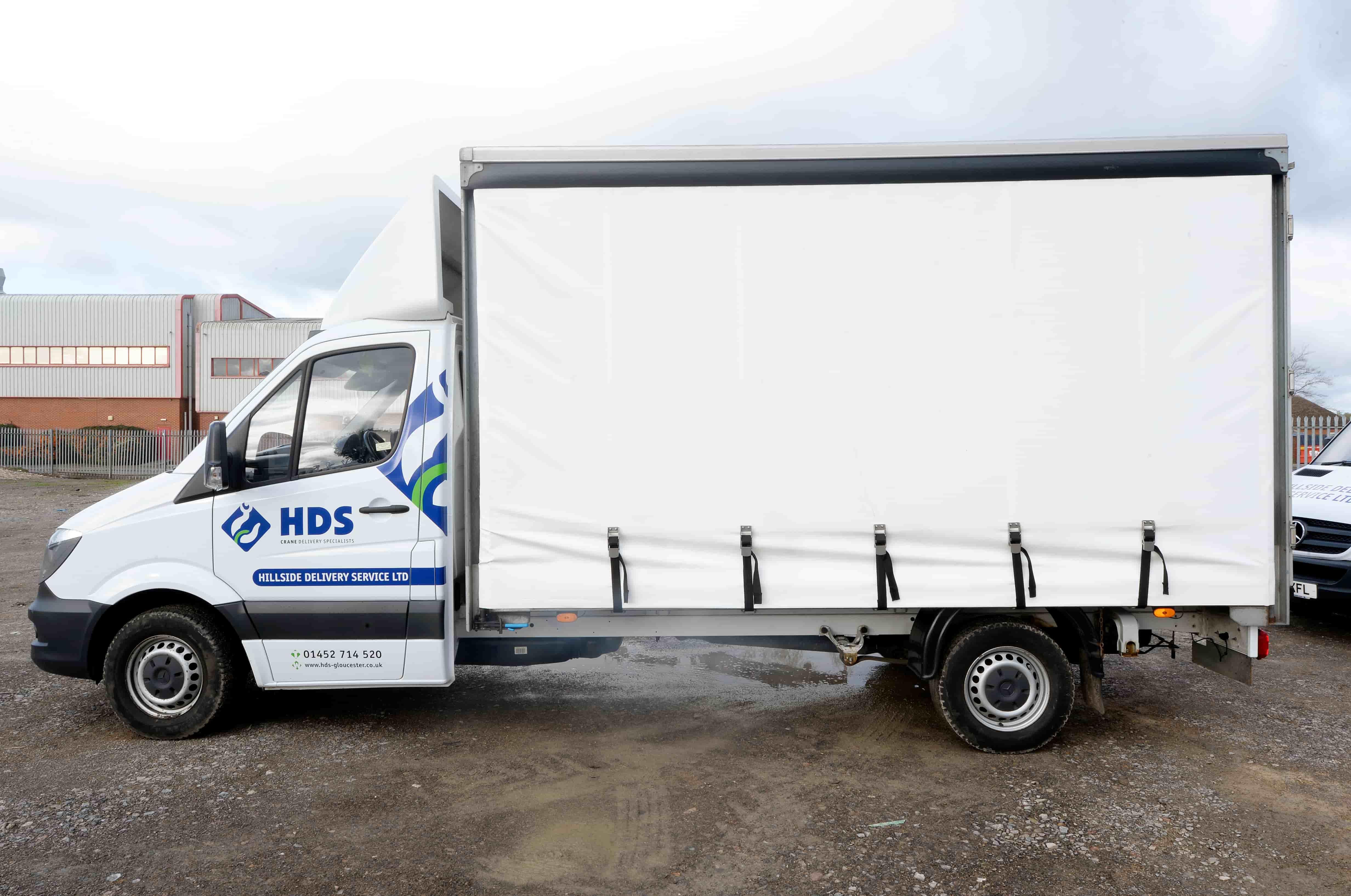 Side shot of Hillside Delivery Service vehicle